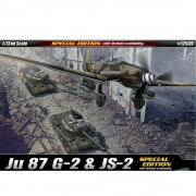 2 KITS - Aviao Junkers JU-87 G-2 Tank Buster e  Tanque JS-2 - ACADEMY