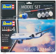 Aviao Airbus A-321 Neo - Livery Version C/TINTAS, PINCEIS E - REVELL