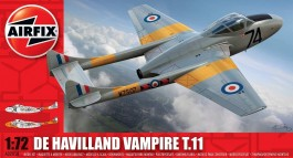 Aviao De Havilland Vampire T.11                        02058 - AIRFIX