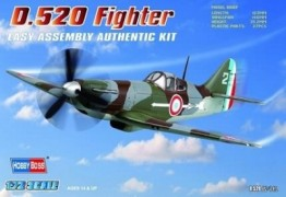 Avião Dewoitine D.520 Fighter - HOBBYBOSS