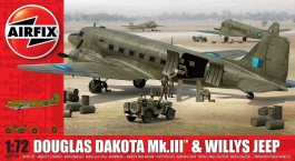 Aviao Douglas C-47 Dakota Mk.III e Willys Jeep          9008 - AIRFIX