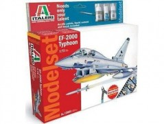 Aviao Eurofighter EF-2000 Typhoon c/ tintas(2),Pincel,Cola, - ITALERI