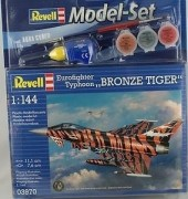 Aviao Eurofighter Typhoon Bronze Tiger C/TINTAS, PINCEIS E C - REVELL ALEMA