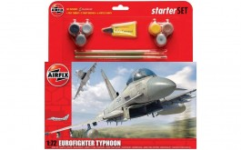 Aviao Eurofighter Typhoon Starter Set c/tintas(6),Pinceis(2) - AIRFIX