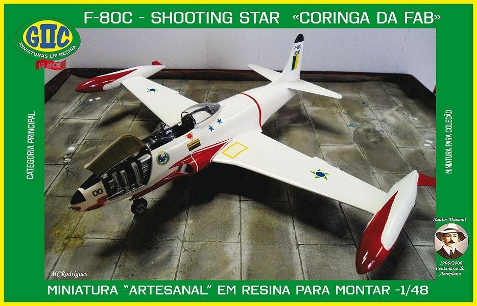 Avião F - 80C Shooting Star - Coringa da FAB - Forca Aerea Brasileira
