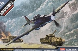 Aviao Ilyushim IL-2M e Tanque Panther D - 2 KITS - ACADEMY
