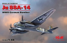Aviao Junkers JU-88 A-14 WWII German Bomber - ICM