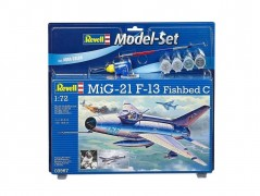 Aviao MiG-21 F-13 Fishbed C c/Tintas(4),Pinceis(2) e Cola - REVELL ALEMA