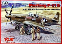 Avião Mustang P-51B With Usaaf Pilots and Personnel - ICM