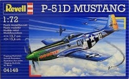 Aviao North American P-51D Mustang                    04148 - REVELL ALEMA