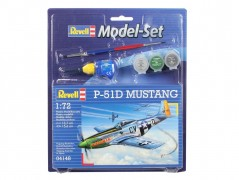 Aviao North American P-51D Mustang C/ Tintas, Pinceis e Cola - REVELL ALEMA