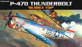 Avião P-47D Thunderbolt Bubble Top - 2174 - ACADEMY