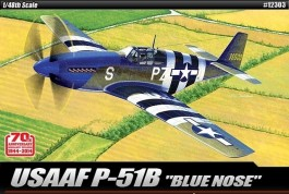 Aviao P-51B Mustang - 1944 -  D-day 70th Anniversary - BLUE - ACADEMY