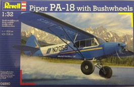 Avião Piper PA-18 with Bushwheels - REVELL ALEMA