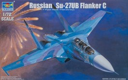 Aviao Russian Su-27UB Flanker C Fighter - TRUMPETER