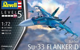 Aviao Sukhoi SU-33 Flanker D - REVELL ALEMA