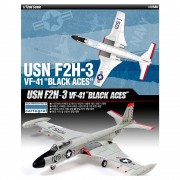 Aviao USN-F2H-3 Banshee VF-41 - Black Aces - ACADEMY