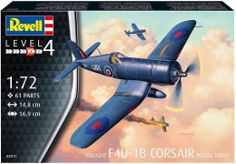 Aviao Vought F-4U-1A Corsair Royal Navy                03917 - REVELL ALEMA