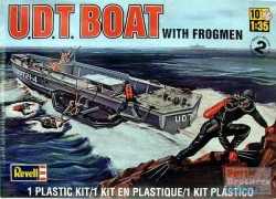 Barco de Assalto - U.D.T Boat with Frogmen and Recovery Raft - REVELL AMERICANA