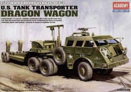 Carreta Transporte Tanques M-26 Wagon Dragon          13409 - ACADEMY