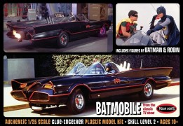 Carro Batman Batmovel 1960 with Batman and Robin - POLAR LIGHTS