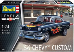 Carro Chevy Bel Air 1956 Custom                        07663 - REVELL