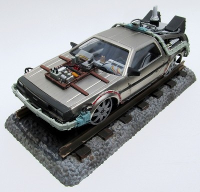 Carro De Lorean Back to the Future III - Final ACT - De Volt POLAR LIGHTS