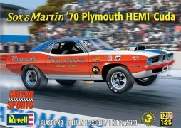 Carro Plymouth Hemi Cuda Sox and Martin 70 Dragster - REVELL AMERICANA