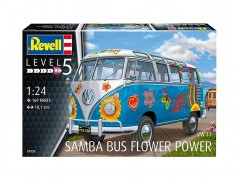 Carro VW Samba Bus - Flower Power                      07050 - REVELL ALEMA