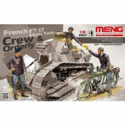 French FT-17 Light Tank Crew e Orderly - MENG