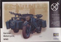 German Motorcycle, WWII - with Sidecar - MASTER BOX