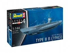 German Submarine Type IIB 1943 - Submarino Alemao - REVELL