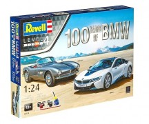 Gift Set 100 YEARS OF BMW - BMW i8 e BMW 507 - REVELL ALEMA