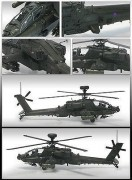 Helicoptero AH-64A British Army Afghanistan            12537 ACADEMY
