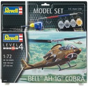 Helicoptero BELL AH-1G COBRA c/Tintas(4), Pinceis(2)e cola - REVELL ALEMA
