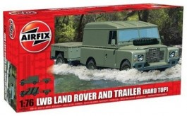 Jeep LWB Land Rover Hard Top with Trailer - AIRFIX