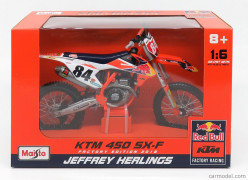 Moto KTM 450 SX-F - RED BULL Factory Edition - Jeffrey Herli - MAISTO