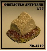 Obstaculo Anti-Tanque Danificado - ARSENAL HOBBY