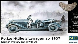 Polizei-Kubelsitzwagen ab 1937 - German Military Police Car - MASTER BOX