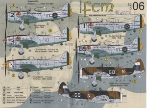 Set Decais P-47D Fab FCM DECAIS