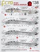 Set Decais VF-301 F-14A Devil´s Diciples - FCM DECAIS