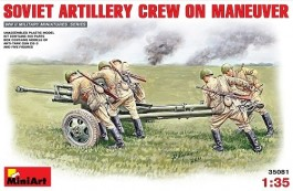 Soviet Artillery Crew on Maneuver MINIART