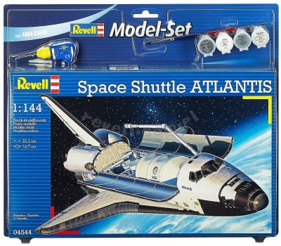 Space Shuttle Atlantis C/ TINTAS, PINCEIS E COLA REVELL ALEMA
