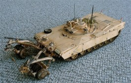 Tanque Abrams M1 Panther II Mine Clearing               0346 TRUMPETER