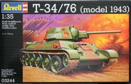 Tanque T-34 / 76 - Model 1943 - REVELL ALEMA