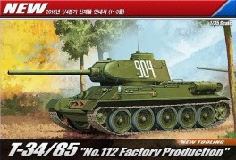 Tanque T-34/85 - No.112 Factory Production - ACADEMY