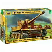 Tanque Tiger I Ausf.E- German Heavy Tank - Early Production - ZVEZDA